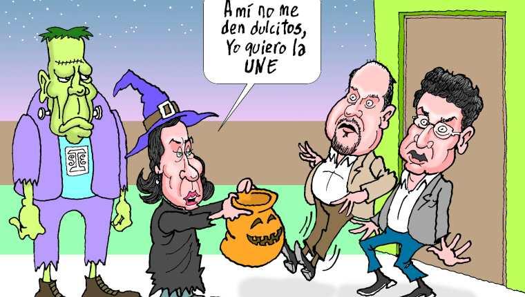 Personajes: Sandra Torres, Orlando Blanco y Carlos Barreda.