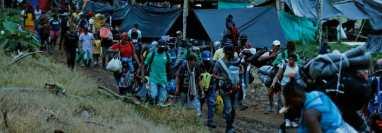 La llegada de haitianos a Estados Unidos pasando por varios países como Colombia, representó una crisis para sus fronteras. (Foto Prensa Libre: EFE)