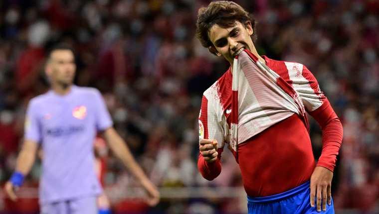 Joao Félix, jugador del Atlético de Madrid. (Foto Prensa Libre: AFP)