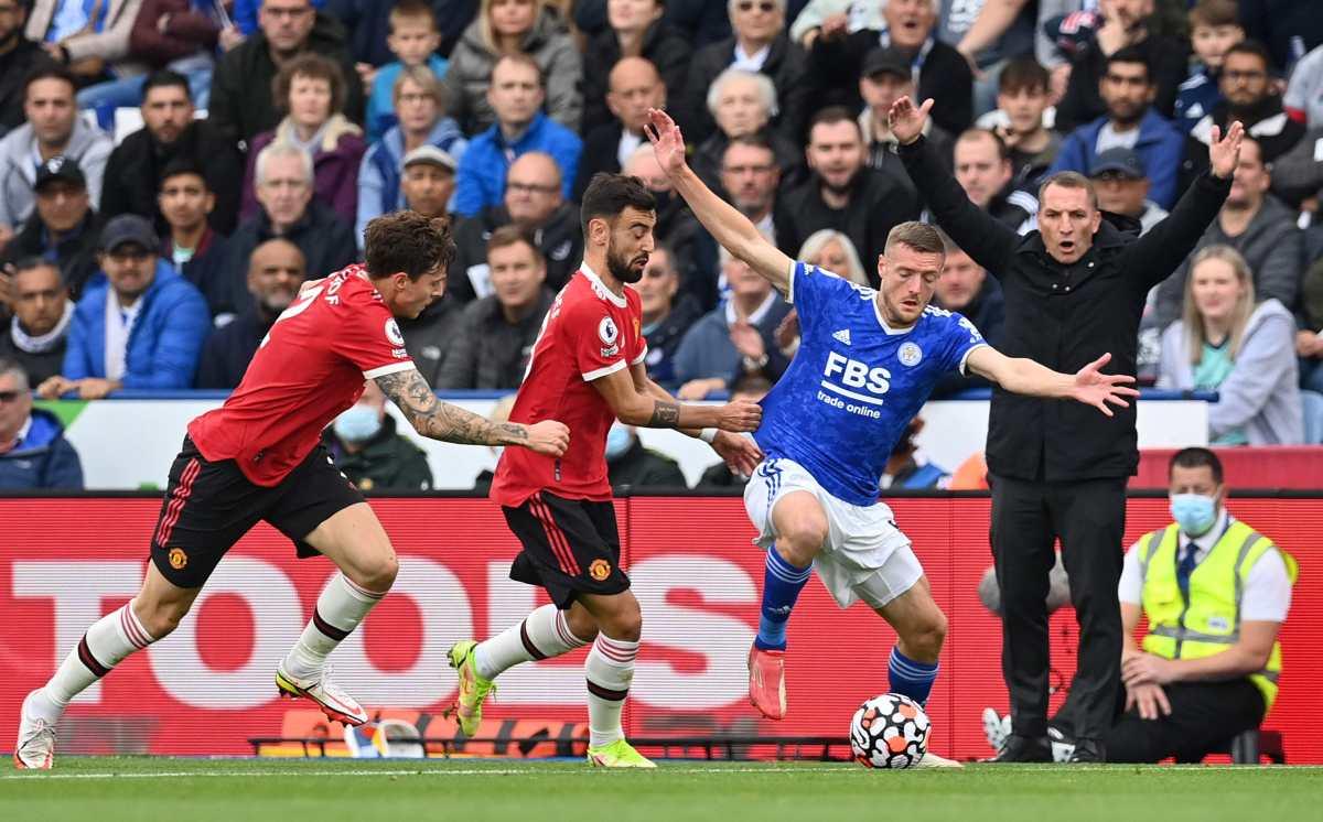 Vardy con el Leicester mete en un lío a Solskjaer en el Manchester United
