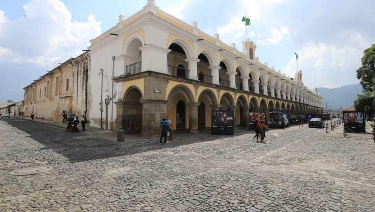 La ciudad colonial busca frenar los contagios de coronavirus. (Foto Prensa Libre: Byron García)