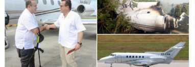 El sitio La Tabla publicó imágenes en las que se observa al presidente Alejandro Giammattei utilizando un avión supuestamente ligado al narcotráfico. (Foto Prensa Libre: Tomada de @latablablog)