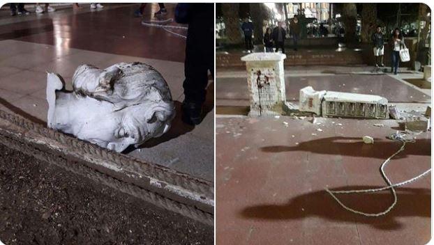 Las protestas han arremetido contra monumentos históricos en países de América. (Foto: @Gerardo_Arica/Twitter)