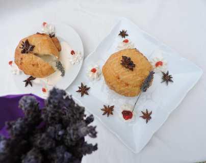 Receta: Exquisita tempura con helado de lavanda