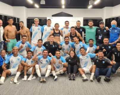 Los jugadores de Guatemala que fueron convocados en septiembre para jugar un amistoso ante El Salvador. Ganaron 2-0, pero no fue en fecha Fifa. Foto Fedefut.