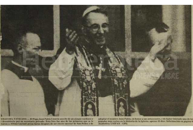 El papa Juan Pablo I será beatificado anunció El Vaticano. (Foto Prensa Libre: Hemeroteca PL)