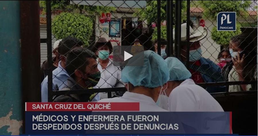 Despiden a médicos del Hospital Regional de Quiché por supuesta venta de medicinas hasta por Q35 mil