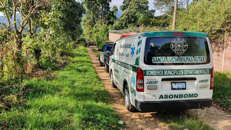 El Ministerio Público investiga la muerte de las dos mujeres que tenían activa la alerta Isabel Claudina. Foto Prensa Libre: Bomberos Municipales Departamentales.