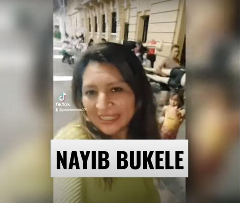 """""""Aquí lo espero"""": el peculiar reto que Yanira Berríos, tiktoker salvadoreña, hizo a Nayib Bukele"""
