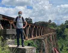Fotografía compartida por el embajador Nick Whittingham frente al Puente Las Vacas. (Foto: @WhittinghamFCDO/Twitter)