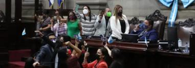 Varios bloques han retirado su apoyo al oficialismo por la conducción que Allan Rodríguez ha dado al Pleno Legislativo. Fotografía: Prensa Libre.