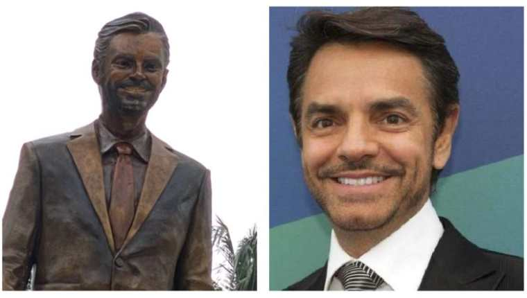 Develan estatua de Eugenio Derbez en Acapulco. (Foto Prensa Libre: Twitter)