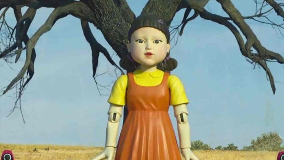 El Juego del Calamar: la singular historia de la aterradora muñeca gigante en la serie de Netflix