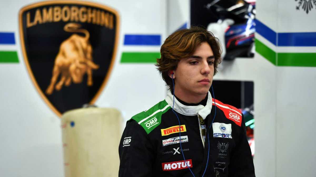 El piloto guatemalteco Mateo Llarena salió ileso de su accidente en el campeonato italiano de Gran Turismo