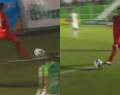 Rudy Barrientos de Municipal anotó un golazo ante Antigua, pero la jugada debió invalidarse