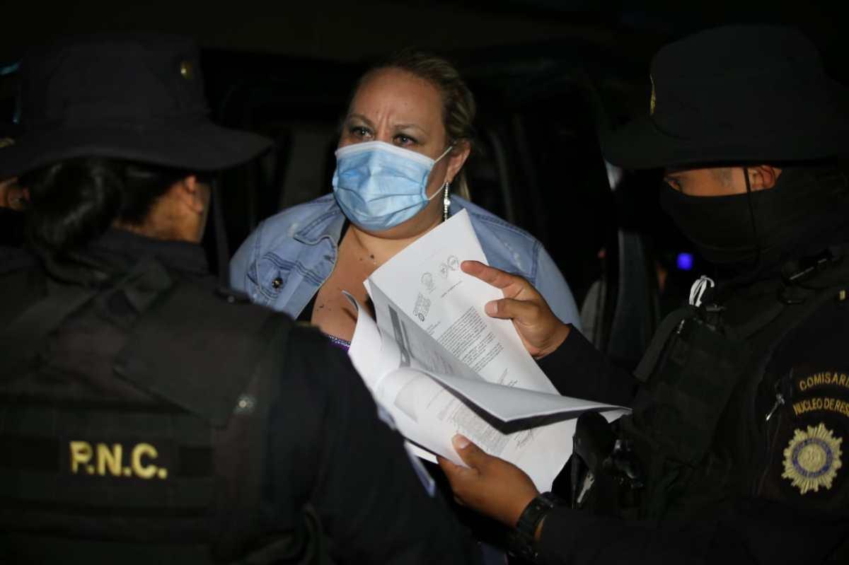 Sobrina de Sandra Torres es detenida por la PNC, tenía seis órdenes de captura vigentes